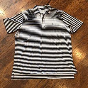 Ralph Lauren Polo Golf Striped Pique Polo Shirt XL